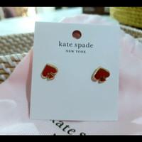 Kate Spade Everyday Spade Enamel Stud Earrings in Red