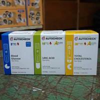 strip autocheck 3 in 1 cek asam urat, kolesterol, gula darah autocheck