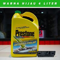 Air Radiator Mobil Motor Coolant PRESTONE Antifreeze 4 Liter - Hijau