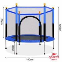Lompat Trampolin trampoline anak dan dewasa 55inch SPEEDS LX 046-4 bon