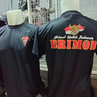 kaos brimob hitam dryfit/kaos dalaman brimob/baju kaos dalaman brimob