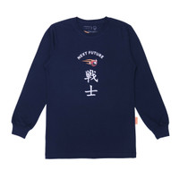 T-shirt - Bahan Katun - Thinkcookcook - Ls Next Future - Biru Dongker