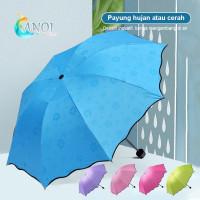 3D Payung Lipat Magic Umbrella / Dimensi Lapisan Hitam ANTI UV / AJ