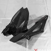 Vulkan Rear Tire Hugger/Spakbor Kolong untuk Kawasaki ZX25R Dry Carbon