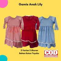 Gamis Anak perempuan Lily 1-2 tahun / gamis bayi murah lucu