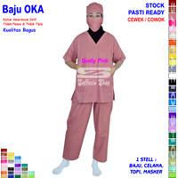Scrub Perawat / Baju Oka / Baju Perawat Lengan Pendek Cewek Cowok