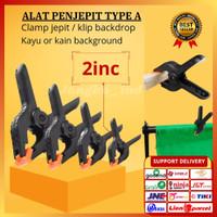 klip penjepit kain backdrop/ kayu 2inc PB-A06 clamp jepit photography