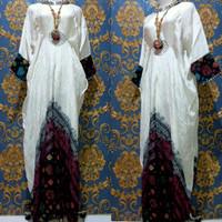 Baju Set Gamis Kaftan Jumputan 8 Modern Asli Palembang