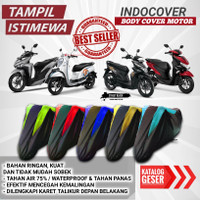 selimut motor beat vario scoopy mio cover motor scoopy supra soul - hitam polos