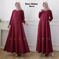Dress Gamis Wulan Busui JUMBO XL Warna Polos Merah Maroon