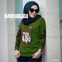CJ7QS-Atasan-Wanita-Kaos/Zolaqu-AQILA-Blouse Wanita Terlaris Kekinian - HIJAU, All Size