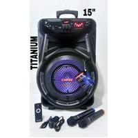 ASATRON Speaker Portable Bluetooth 15 inch - Titanium