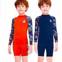 Dive & Sail Baju Renang Anak Laki-Laki Two Piece Lengan Panjang