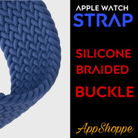 Apple Watch Strap Band BRAIDED BUCKLE SE 6 5 4 3 21 Silicone 38mm 40mm