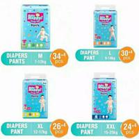 pempers / popok baby happy M 34+4, L 30+4, XL 26+4