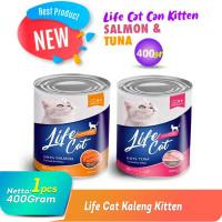Makanan Basah Kaleng Wet Food Life Cat Can for Kitten 400g