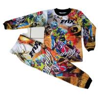 Baju motocross anak lengan panjang/Baju motor trail anak/gowes anak