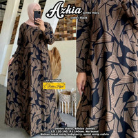 Azkia Maxi Dress Jumbo Abstrak Calvin Diana Gamis Big Size Muslim