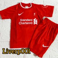 setelan anak pakaian baju bola musim 2020-2021 untuk umur 1-2-3 tahun - livepol merah, 4
