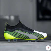 Sepatu Bola Puma One 5.1 FG/AG Volt Black FootBall Premium Original