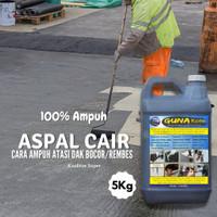 Aspal Cair Anti Rembes Lantai Atap Dak / Cat Pelapis Anti Bocor 5 kg