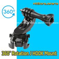 360 Rotation J Hook Mount & Screw Aksesoris GoPro SJCAM Xiaomi Yi