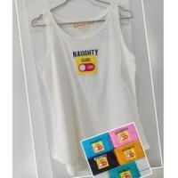 Kaos Wanita Tanktop Tshirt Cewek Singlet Tanpa Lengan Tangtop SL-07
