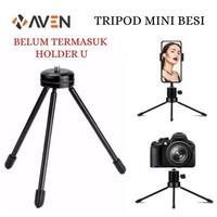 AVEN - Tripod Mini Besi Portable Stabil & Kuat For DSLR Hp Ring Light