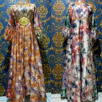 Baju Set Gamis Kaftan Jumputan 4 Modern Asli Palembang