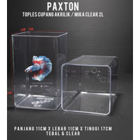 Toples Akrilik Paxton 2 Liter Bonus Sekat Soliter Aquarium cupang