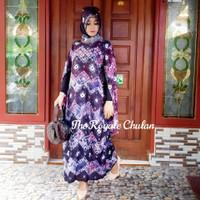 Baju Set Gamis Kaftan Jumputan 1 Modern Asli Palembang