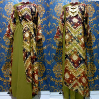 Baju Set Gamis Kaftan Jumputan 17 Modern Asli Palembang
