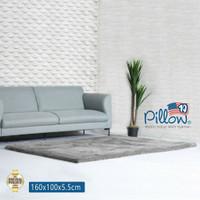 Karpet Bulu Pillow Original 100% uk 160x100cm tebal 5,5cm