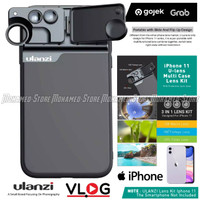 ULANZI U Lens IPHONE 11 Multi Lensa CPL Macro Tele Fisheye With Case