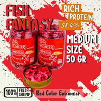 Udang Kering Pakan Ikan Hias Fish Fantasy [Menaikan Corak Merah] - 50 gram
