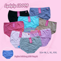 Grosir Celana Dalam Lydyly LD009 Jahit Tengah Katun CD Wanita L XL XXL