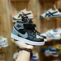 Sepatu anak NIKE AIR JORDAN black grey 21 - 26