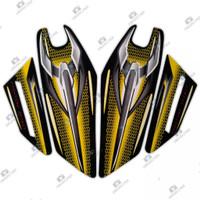 Stiker Striping Motor Yamaha Rx King 2007 Kuning