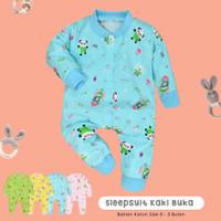1 Pcs Sleep Suit Kaki Buka 100% COTTON BC-031KK Jumpsuit Panjang Bayi