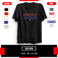 Kaos Tshirt Distro Pria lengan Pendek Bahan Cotton 30S Barcelona MesQu