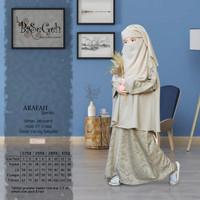 AR 03 Baju Muslim Gamis Anak set Cadar Yaman Basegeh Gold