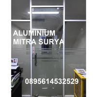 Pintu Kaca Kusen Aluminium Partisi Kaca Jendela Kaca Pembatas Ruangan