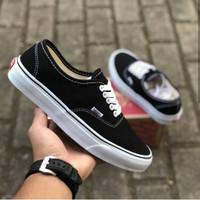 sepatu vans authentic maroon black full black