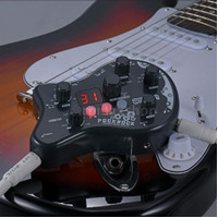 Ammoon PockRock Portable Guitar Multi Effect Pedal 15 Effect Types 40 - Hitam