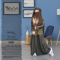 AR 01 Baju Muslim Gamis Anak set Cadar Yaman Basegeh Olive