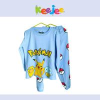 Piyama anak setelan baju tidur Keejee Pokemon panjang sz kecil