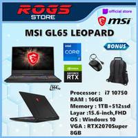 MSI GL65 Leopard i7 10750 16GB 1TB+512ssd RTX2070Super 8GB W10 15.6FHD