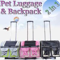 Pe118 Pet Dog Cat Luggage Backpack Tas Koper Stroller Anjing Kucing -