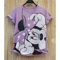 CHERON 20343 - Kaos Oblong Wanita Abg Fit L Baju Atasan Cewek Tumblr