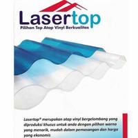 LASERTOP Atap Plastik Gelombang Bening 180x85/210x85/240x85/300x85